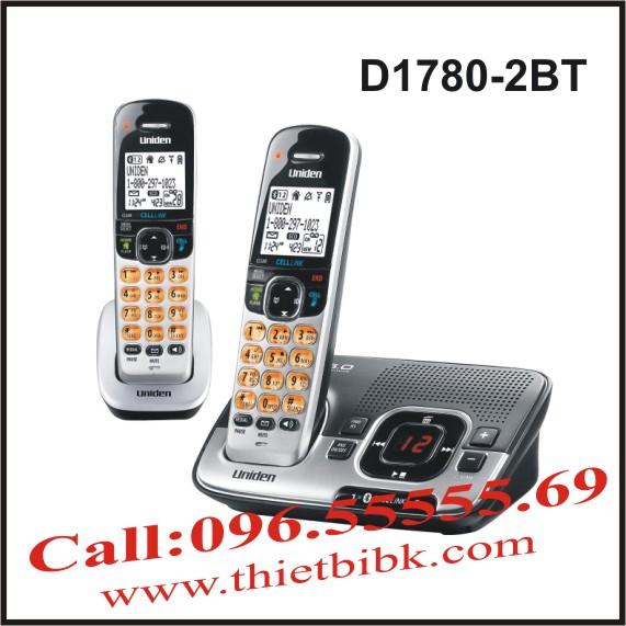 Điện thoại không dây UNIDEN D1780-2BT