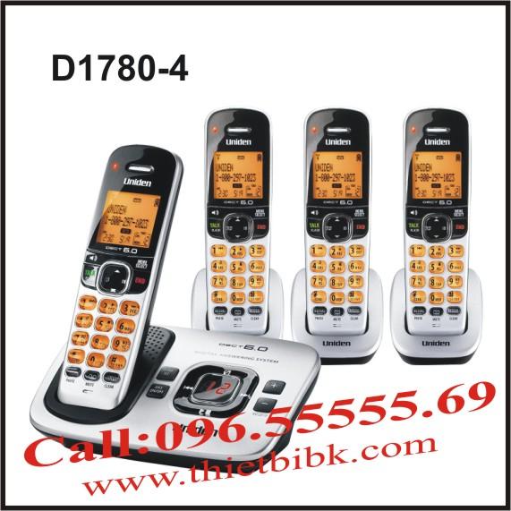 Điện thoại không dây UNIDEN D1780-4