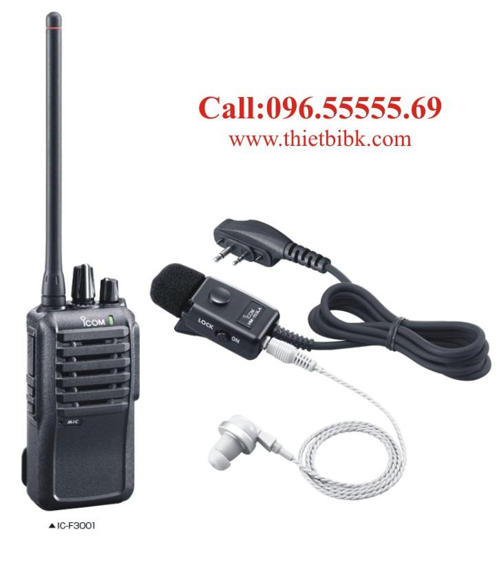 Tai nghe máy bộ đàm ICOM IC-F3001 dùng cho khu công nghiệp