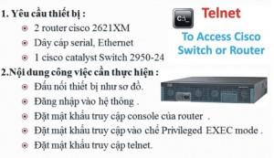 Telnet từ xa vào cisco router để quản trị mạng từ xa