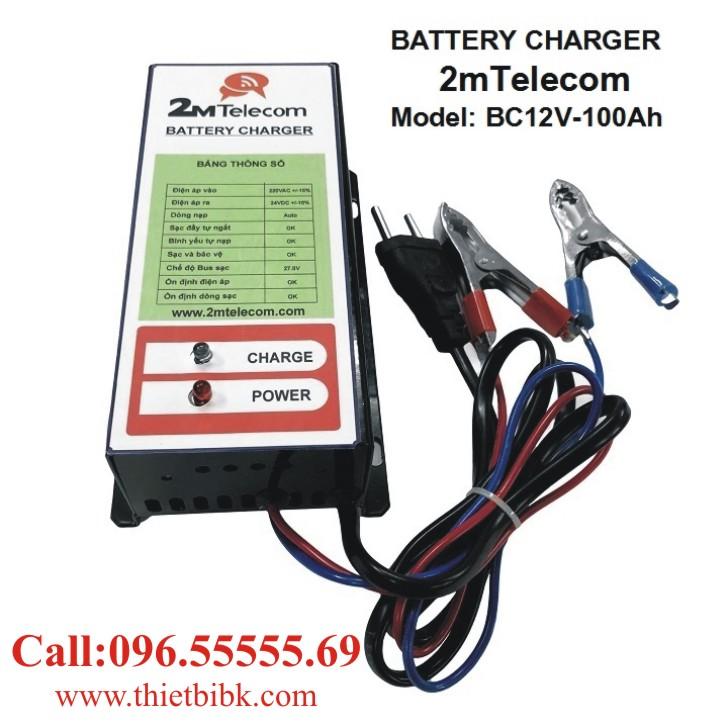 Bộ nạp ắc quy tự động 2mTelecom BC12V-100Ah dùng sạc ắc quy khô và ắc quy nước
