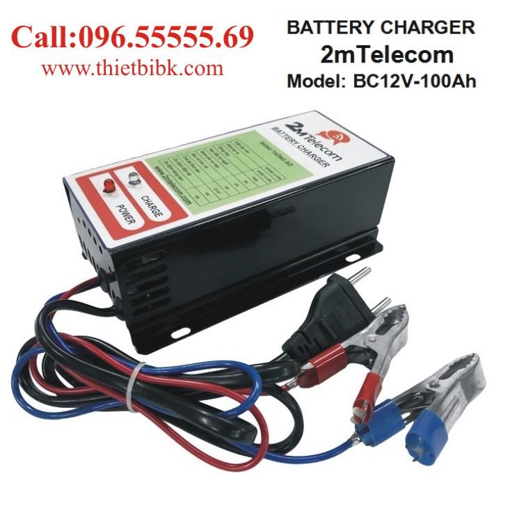 Bộ nạp ắc quy tự động 2mTelecom BC12V-100Ah dùng sạc ắc quy ô tô, xe máy