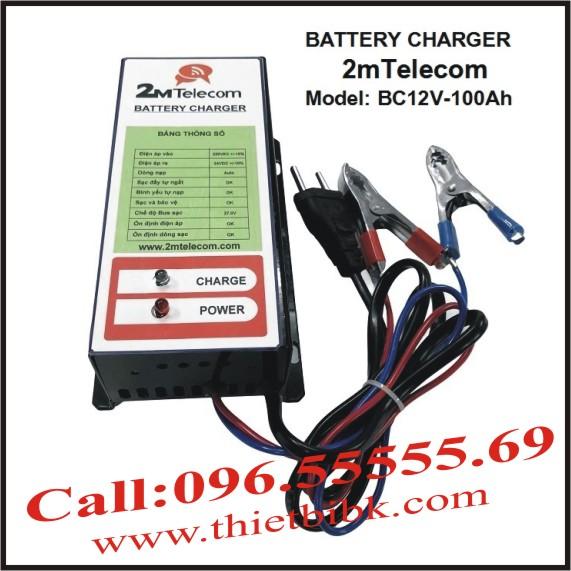 Bộ nạp ắc quy tự động 2mTelecom BC12V-100Ah