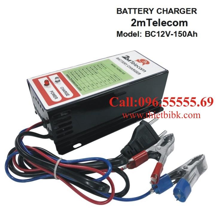 Bộ nạp ắc quy tự động 2mTelecom BC12V-150Ah dùng sạc ắc quy máy phát điện