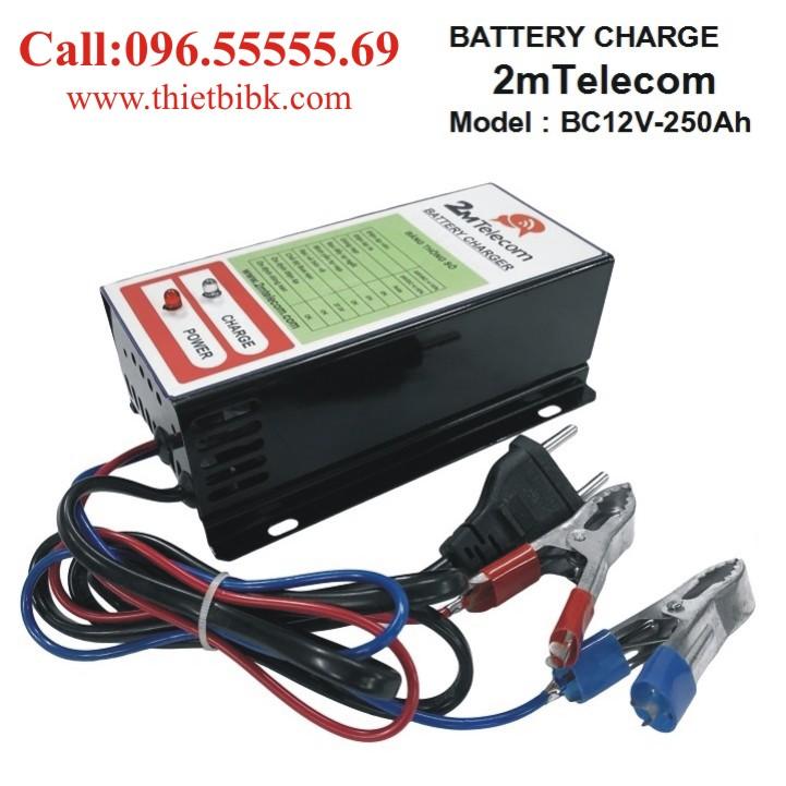 Bộ nạp ắc quy tự động 2mTelecom BC12V-250Ah dùng sạc ắc quy máy phát điện