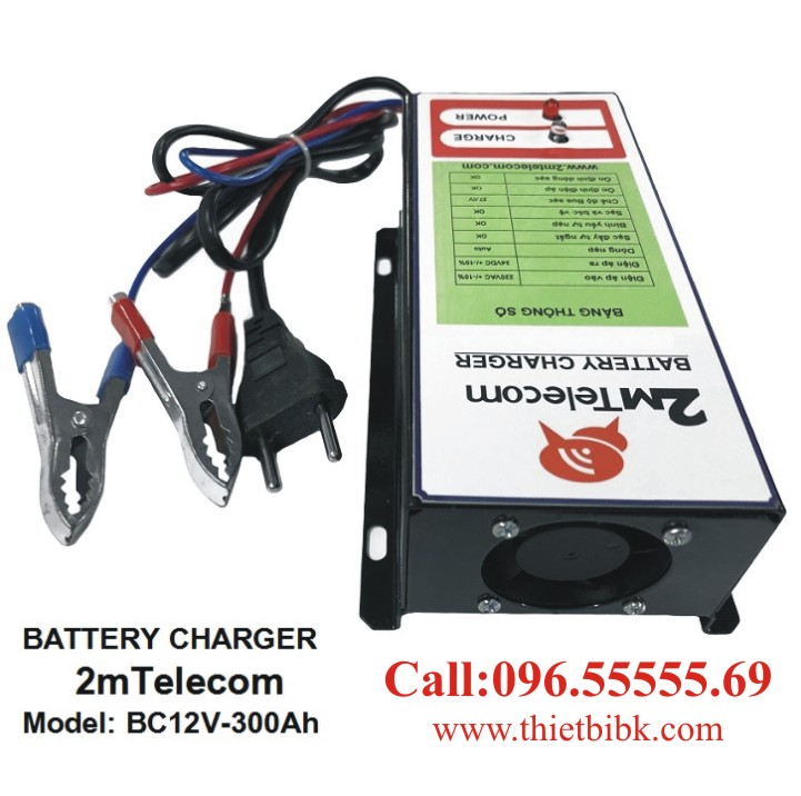 Bộ nạp ắc quy tự động 2mTelecom BC12V-300Ah dùng sạc ắc quy khô và ắc quy nước