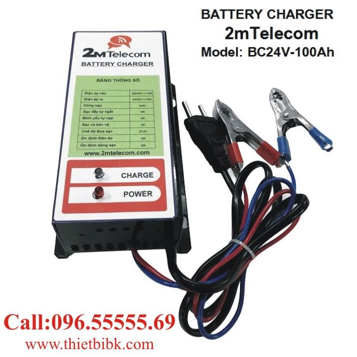 Bộ nạp ắc quy tự động 2mTelecom BC24V-100Ah dùng sạc ắc quy máy phát điện