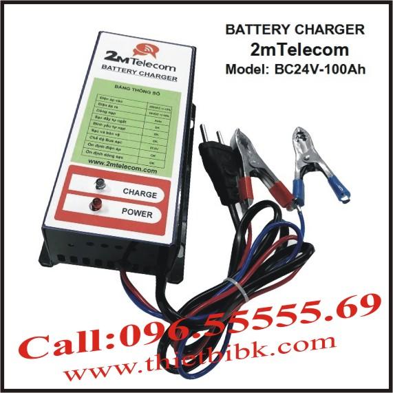 Bộ nạp ắc quy tự động 2mTelecom BC24V-100Ah