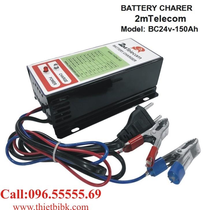 Bộ nạp ắc quy tự động 2mTelecom BC24V-150Ah dùng sạc ắc quy máy phát điện