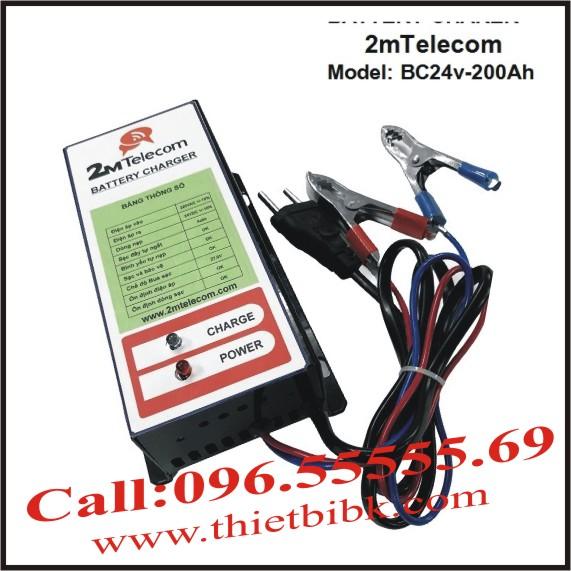 Bộ nạp ắc quy tự động 2mTelecom BC24V-200Ah