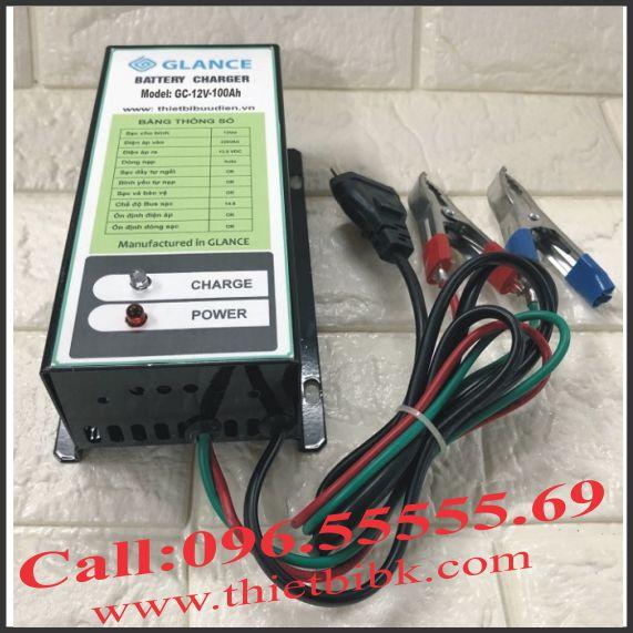 Bộ nạp ắc quy tự động GLANCE GC12V-100Ah