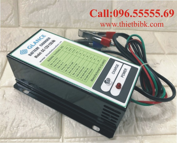 Bộ nạp ắc quy tự động GLANCE GC12V-150Ah dùng sạc ắc quy dự phòng trạm BTS