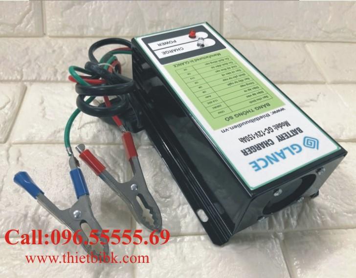 Bộ nạp ắc quy tự động GLANCE GC12V-150Ah dùng sạc ắc quy khô và ắc quy nước