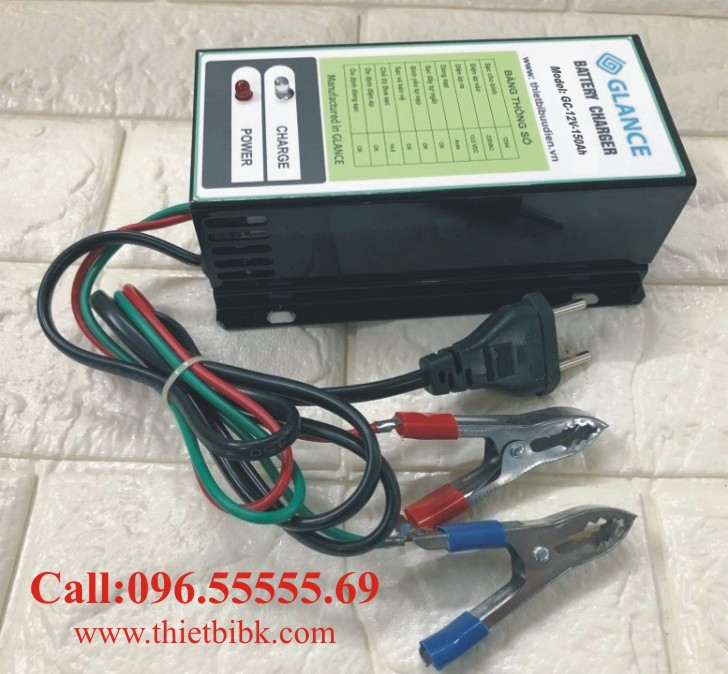 Bộ nạp ắc quy tự động GLANCE GC12V-150Ah dùng sạc ắc quy máy phát điện