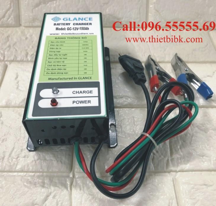 Bộ nạp ắc quy tự động GLANCE GC12V-150Ah dùng sạc ô tô, xe máy