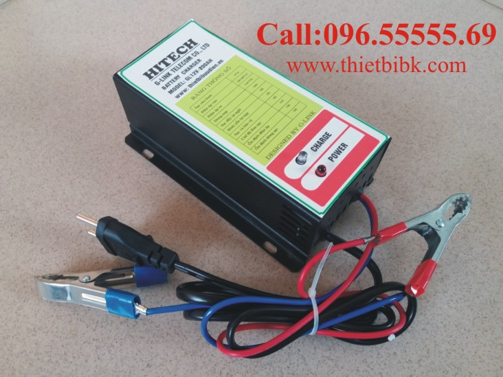 Bộ Sạc ắc quy tự động HITECH GL12V-200Ah dùng sạc ắc quy dự phòng