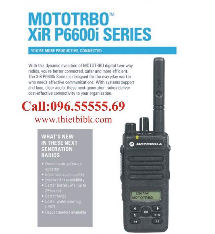 Máy bộ đàm Motorola MotoTrbo XiR P6600i dùng cho công trường xây dựng