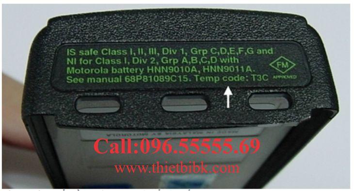 Máy bộ đàm chống cháy nổ Motorola GP338-IS có tem xanh
