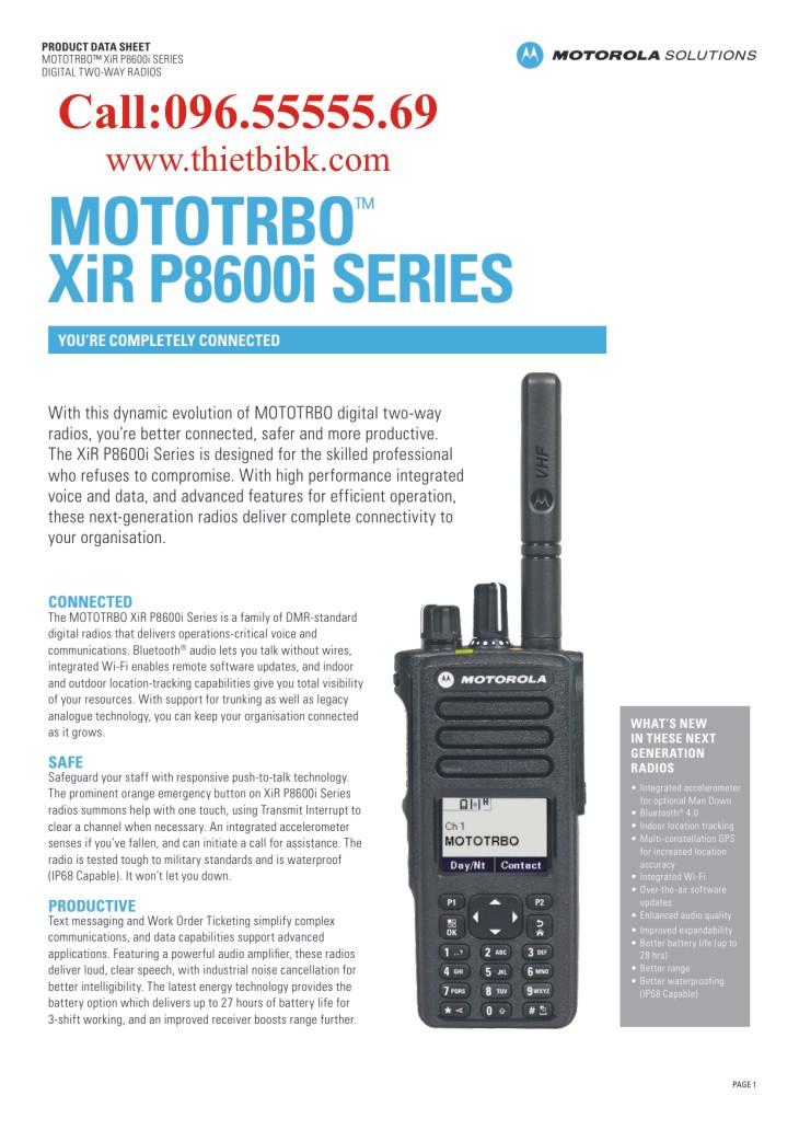 Máy bộ đàm kỹ thuật số Motorola XiR P8660i P8668i dùng cho giao thông vận tải