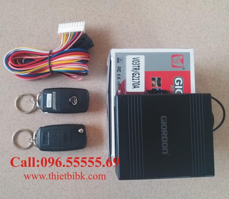 Bộ điều khiển khóa cửa ô tô Giordon 2170A có nút mở cốp