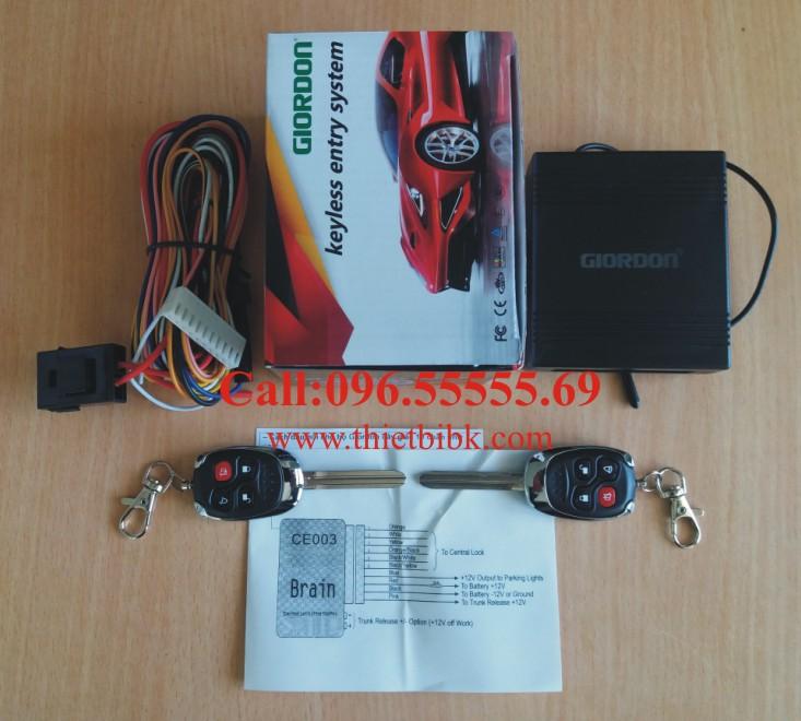 Bộ điều khiển khóa cửa ô tô Giordon 2173 12v 10 dây dùng cho xe con