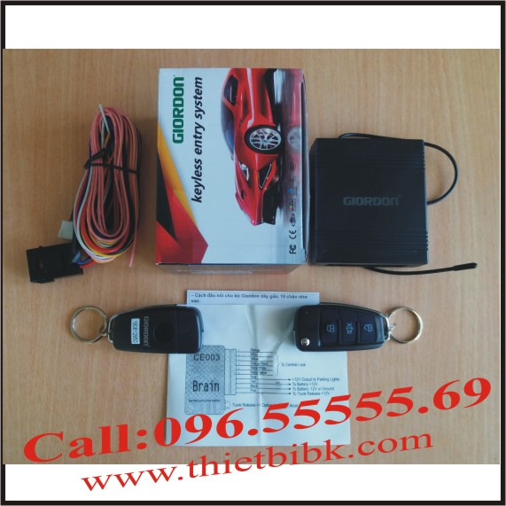 Bộ điều khiển khóa cửa ô tô Giordon 2264 12v