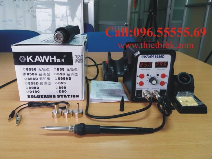 Máy khò và hàn thiếc KAWH SMD 8586D có hai màn hình hiển thị nhiệt độ