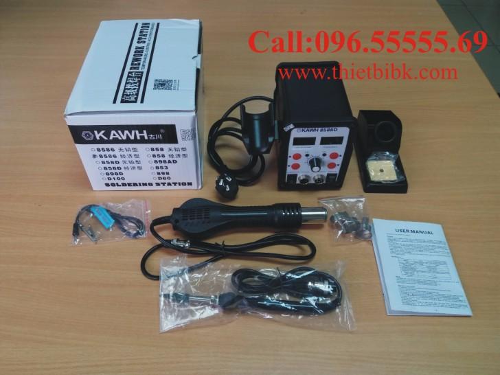 Máy khò và hàn thiếc KAWH SMD 8586D dùng cho thợ sửa chữa điện thoại di động