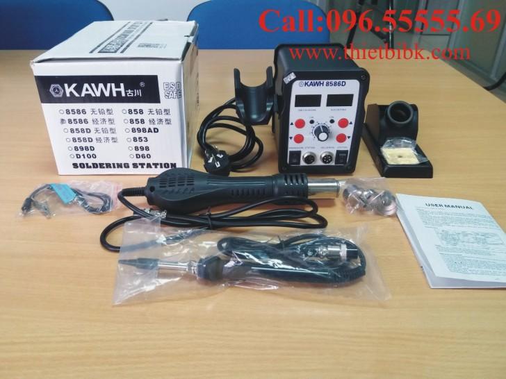 Máy khò và hàn thiếc KAWH SMD 8586D dùng cho thợ sửa chữa điện tử