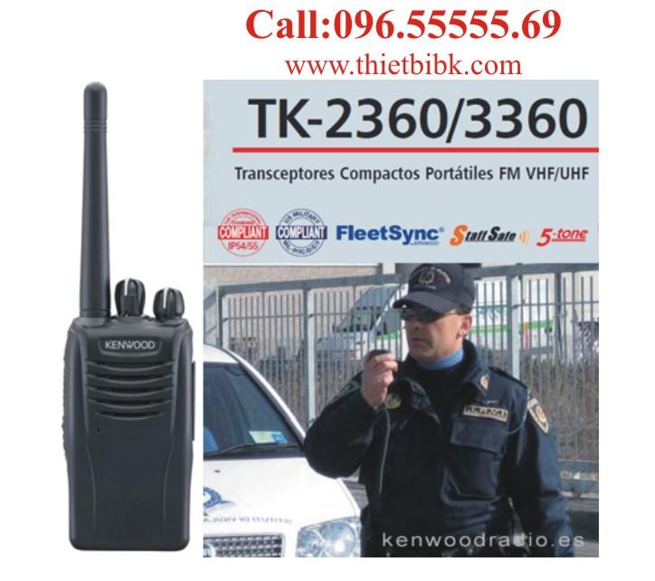 Máy bộ đàm kenwood TK-3360 UHF dùng cho bảo vệ