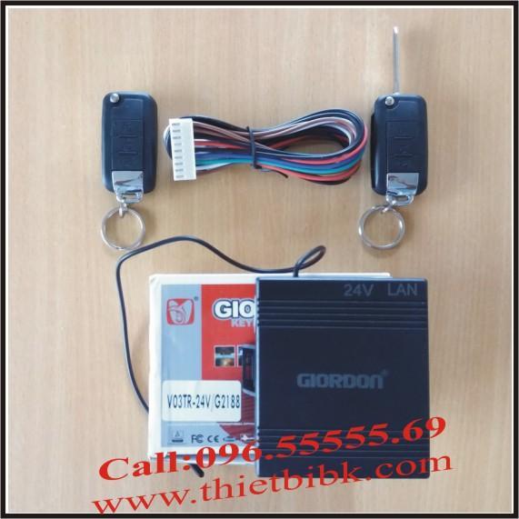 Bộ điều khiển khóa cửa ô tô Giordon 2188 24V 9 dây