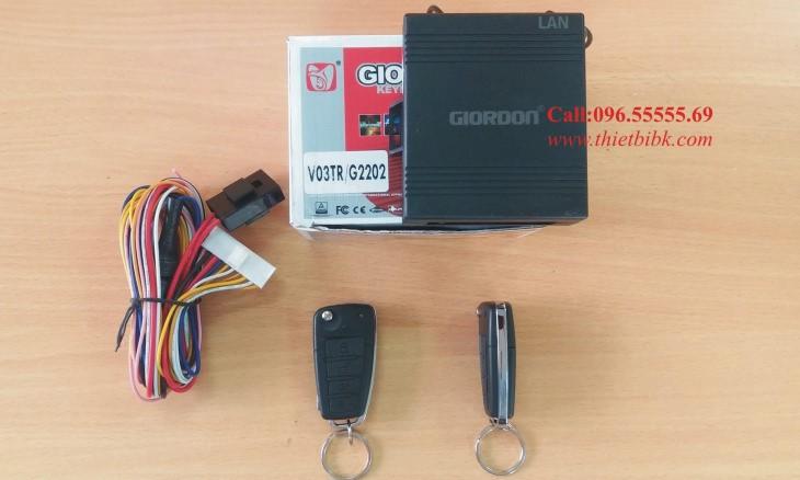 Bộ điều khiển khóa cửa ô tô Giordon 2202 12v 10 dây lắp xe con