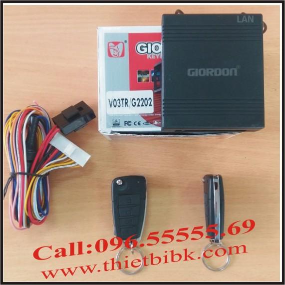 Bộ điều khiển khóa cửa ô tô Giordon 2202 12v 10 dây