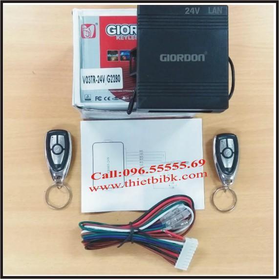 Bộ điều khiển khóa cửa ô tô Giordon 2280 24V 9 dây