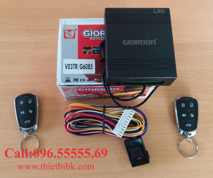 Bộ điều khiển khóa cửa ô tô Giordon 6085 12V 10 dây lắp cho xe con