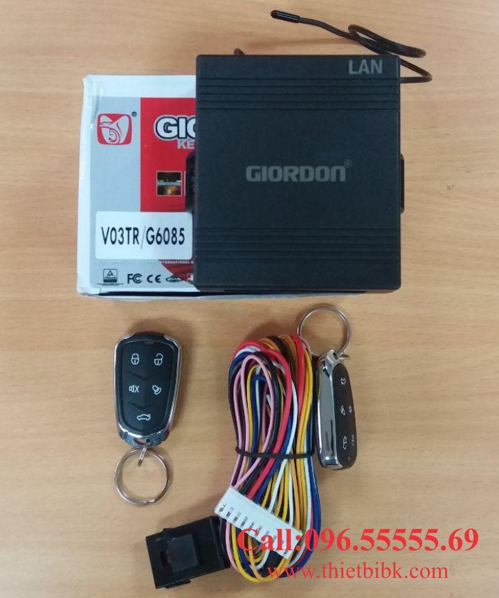 Bộ điều khiển khóa cửa ô tô Giordon 6085 12V 10 dây lắp cho xe tải nhỏ
