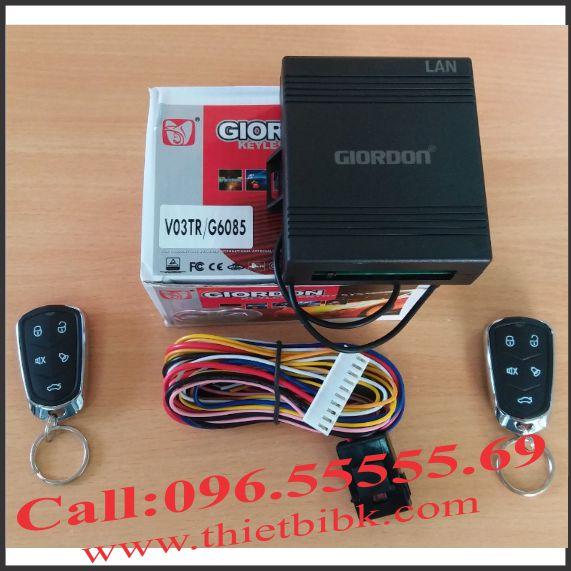 Bộ điều khiển khóa cửa ô tô Giordon 6085 12V 10 dây