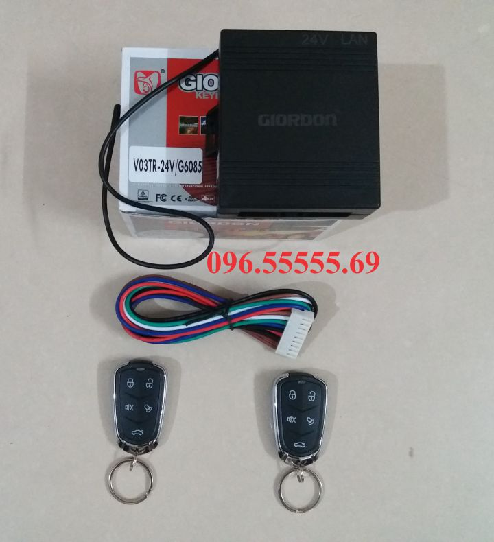 Bộ điều khiển khóa cửa ô tô Giordon 6085 24V 9 dây dùng cho xe con