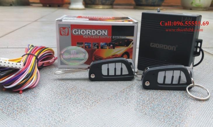Bộ điều khiển khóa cửa ô tô Giordon 6090 12v 10 dây lắp cho xe con