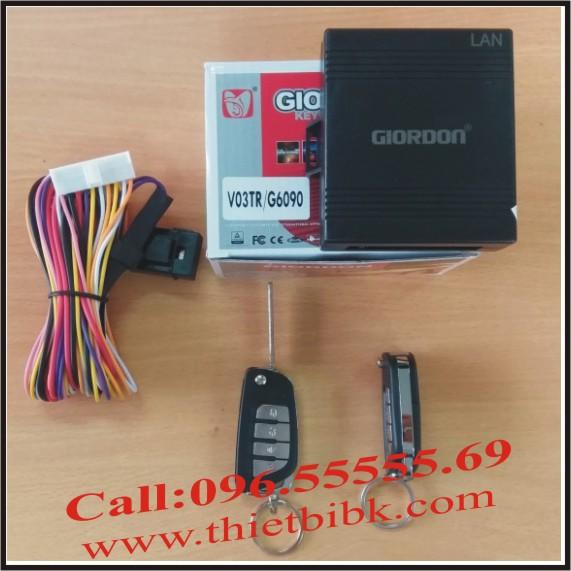 Bộ điều khiển khóa cửa ô tô Giordon 6090 12v 10 dây