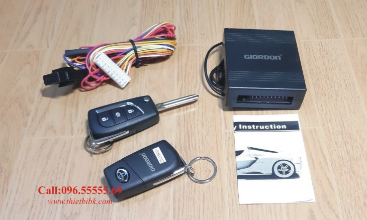 Bộ điều khiển khóa cửa ô tô Giordon 6214 12v 10 dây dùng cho xe con