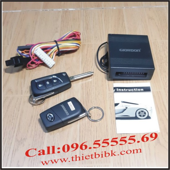Bộ điều khiển khóa cửa ô tô Giordon 6214 12v 10 dây