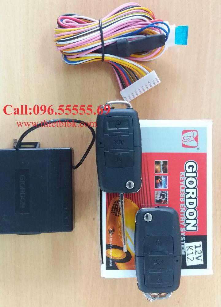 Bộ điều khiển khóa cửa ô tô Giordon K12 12v 10 dây dùng cho xe tải nhỏ