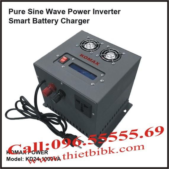 Bộ kích điện sin chuẩn và sạc ắc quy tự động KOMAX KD24-1000VA