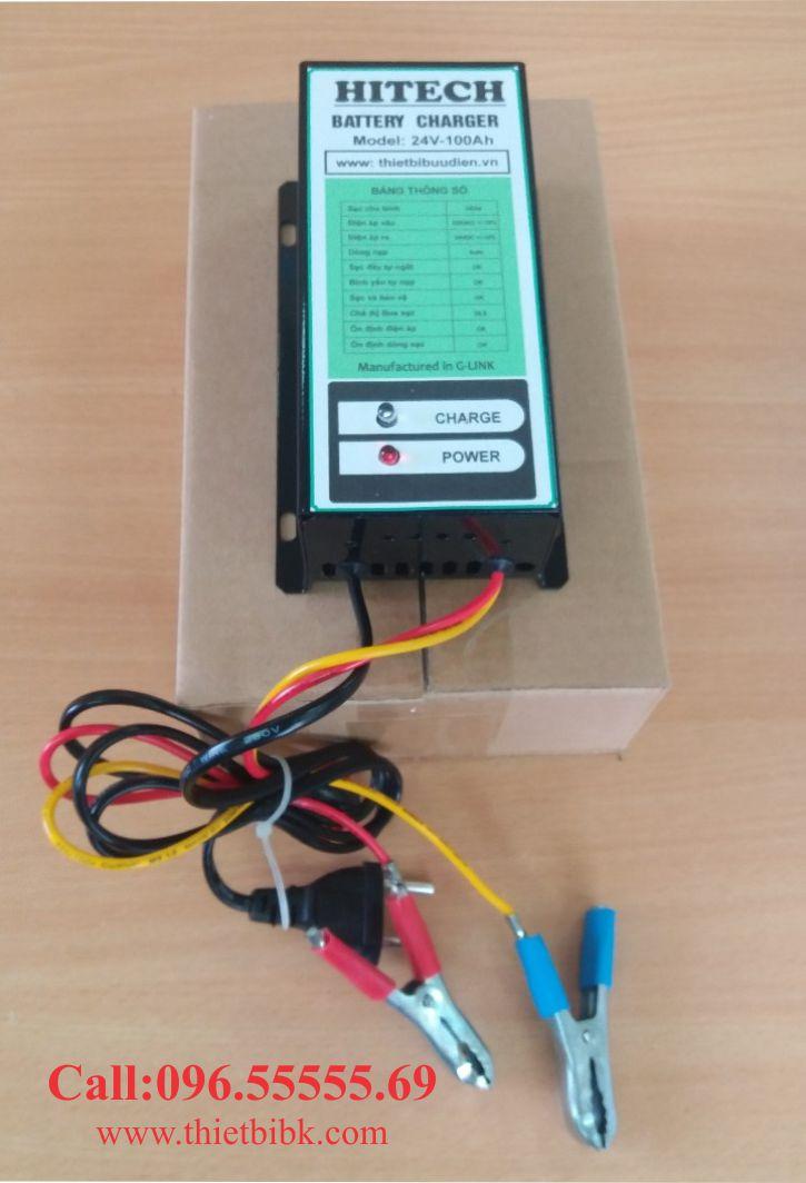 Mua 01 sạc ắc quy tự động HItech 24v 100Ah tặng mỏ hàn thiếc